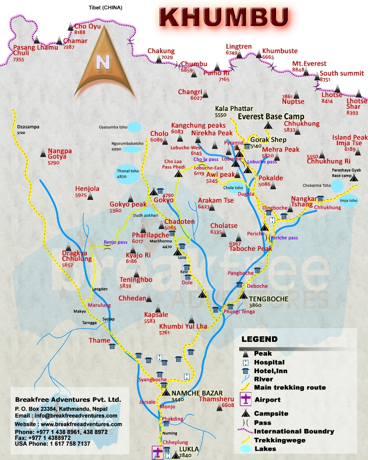 Everest Base Camp Trek From Jiri Map
